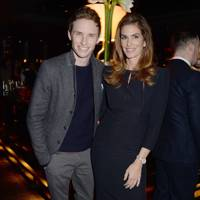 Eddie Redmayne and Cindy Crawford