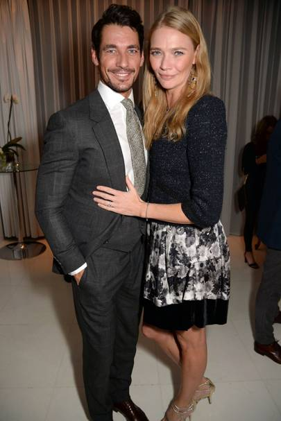 David Gandy and Jodie Kidd
