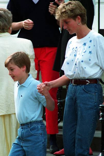 Prince William and the Princess of Wales, 1992