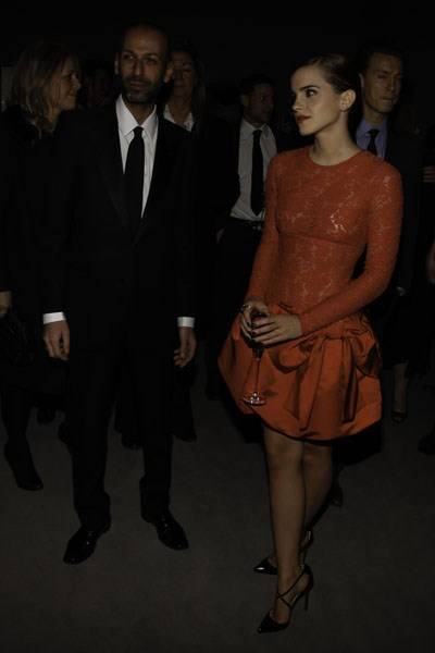 David Souffan and Emma Watson