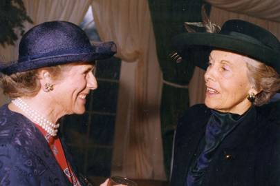 Lady Milne and Baroness Rothschild