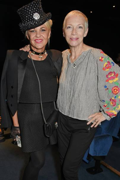 Amanda Eliasch and Annie Lennox