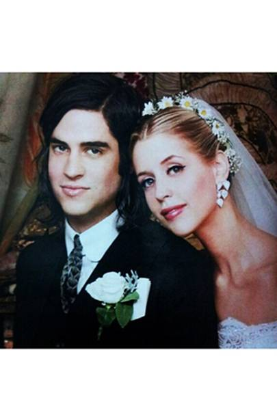 Peaches and Tom on their wedding day in 2012