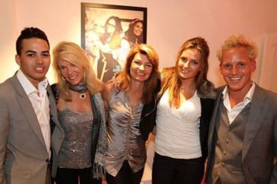 Ross Bailey, Rosemary Forsyth, Alexa Chiltern-Hunt, Tamara Chiltern-Hunt and Jamie Laing