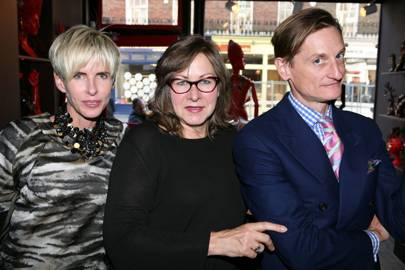 Vicki Sarge, Hamish Bowles and Brooke Metcalfe