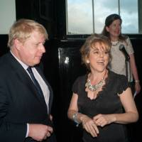 Boris Johnson, Rachel Kelly and Liz Gough