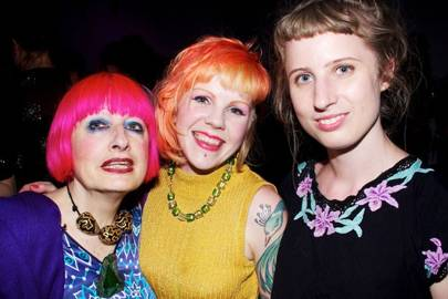 Zandra Rhodes, Kitty Joseph and Michelle Lewis