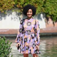 Gugu Mbatha-Raw arriving at the festival