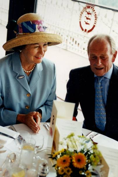 Lady Sieff and John Dunlop