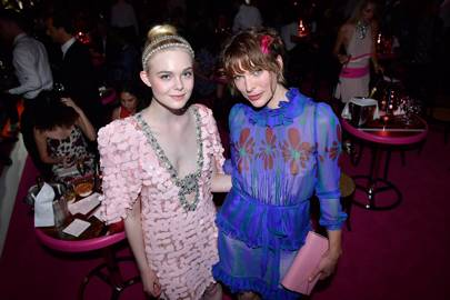 Elle Fanning and Milla Jovovich