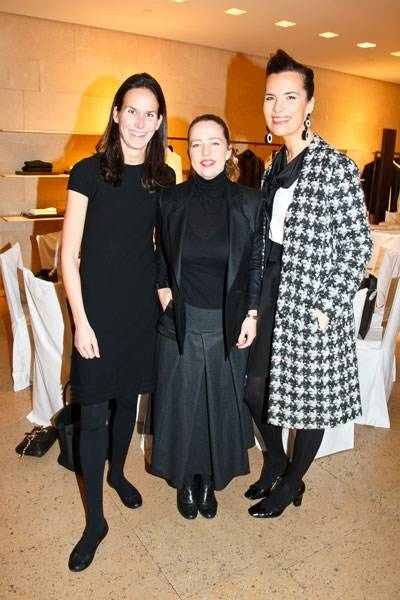 Cristina Colomar, Jenny Saville and Roberta Armani