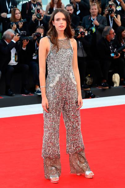 Stacy Martin at the 'Vox Lux' premiere