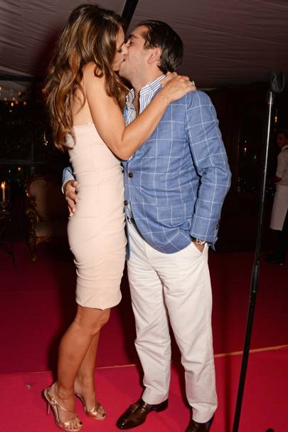 Elizabeth Hurley and Julian Bharti
