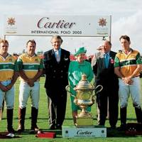 Leon Reardon, Arnaud Bamberger, The Queen, Major Christopher Hanbury and The Australian Polo Team