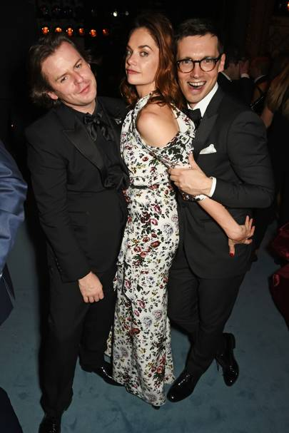 Christopher Kane, Ruth Wilson and Erdem Moralioglu