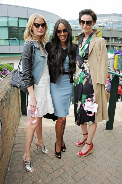 Caroline Winberg, Naomi Campbell and Erin O'Connor