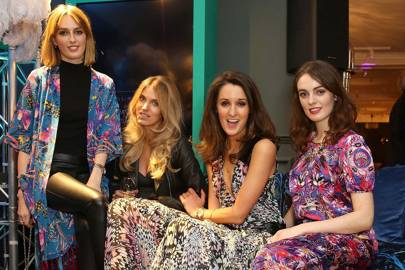 Lady Alice Manners, Georgie McIntyre, Rosanna Falconer and Lady Violet Manners