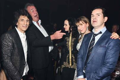 Ronnie Wood, Jeremy Clarkson, Sally Wood, Karoline Copping and Jimmy Carr