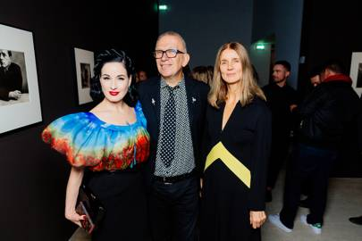 Dita Von Teese, Jean Paul Gaultier and Karla Otto