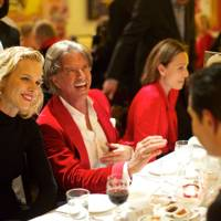 Eva Herzigova, Richard Caring and Kristin Scott Thomas