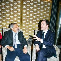 Sir VS Naipaul and George Osborne