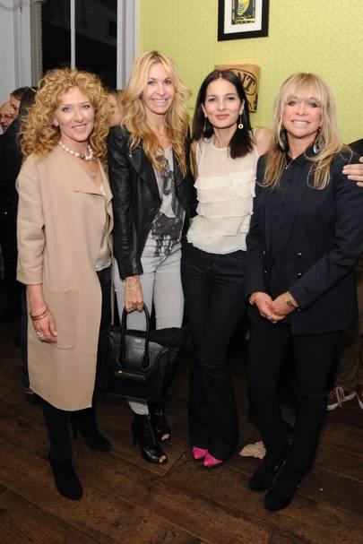 Kelly Hoppen, Melissa Odebash Yasmin Mills and Jo Wood