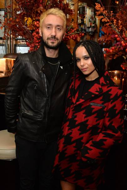 Jimmy Giannopoulos and Zoe Kravitz