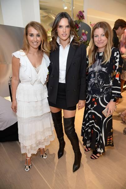 Nazer Bullen, Alessandra Ambrósio and Kara Goodley