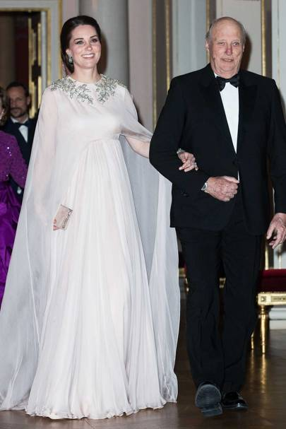 The Duchess of Cambridge and King Harald V of Norway