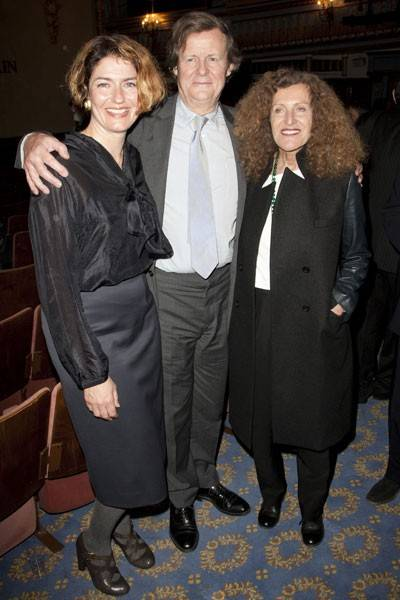 Anna Chancellor, Sir David Hare and Nicole Farhi