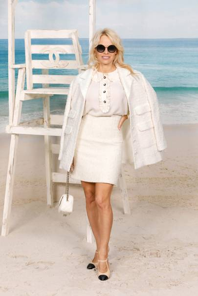Pamela Anderson at the Chanel show.