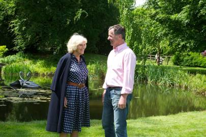 The Duchess of Cornwall and Simon Gudgeon