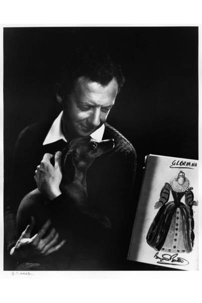 Benjamin Britten with Clytie, by Yousef Karsh, 1954