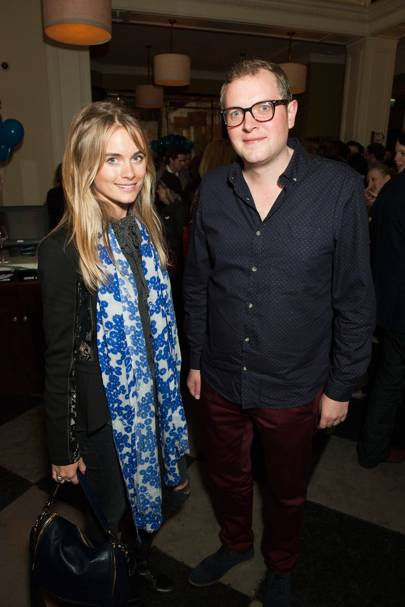 Cressida Bonas and Miles Jupp
