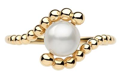 Gold & Pearl ring, £350, by Links of London