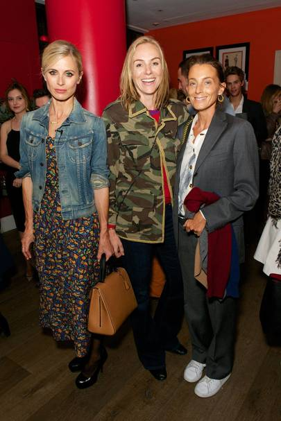 Laura Bailey, Cathy Kasterine and Phoebe Philo