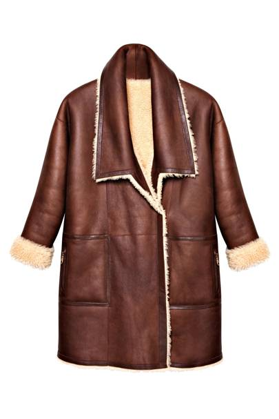 Leather & sheepskin coat, £3,300 by Mulberry