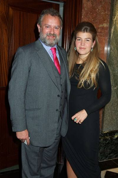 Hugh Bonneville and Amber Nuttall