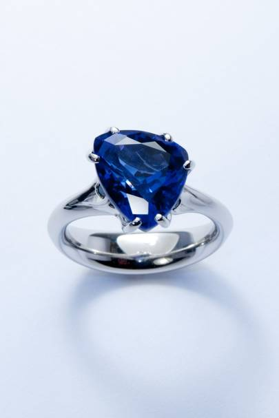 Tanzanite and platinum ring, POA, Jon Dibben