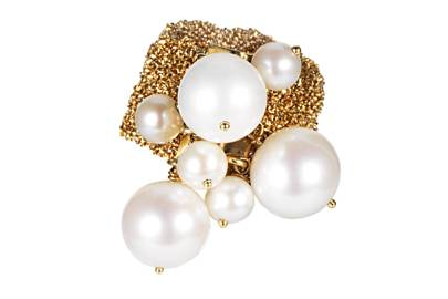 Gold & pearl ring, £990, by Carolina Bucci