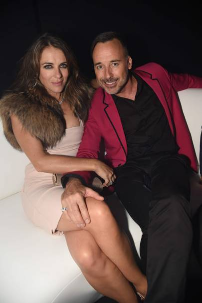 Elizabeth Hurley and David Furnish