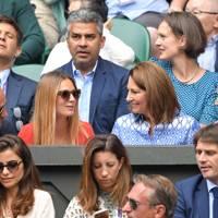 James Middleton, Alizee Thevenet, Carole Middleton and Pippa Middleton