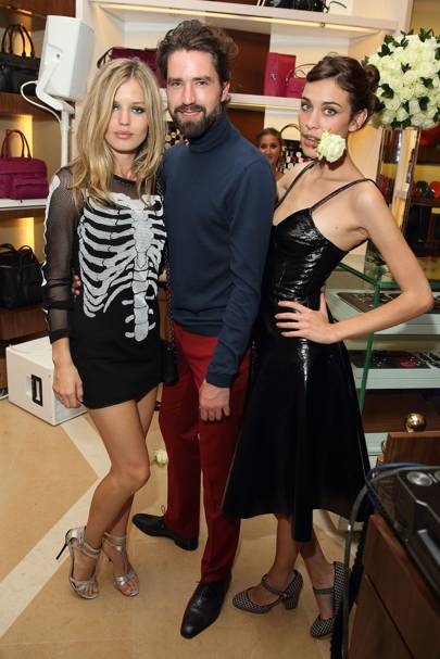 Georgia May Jagger, Jack Guinness and Alexa Chung