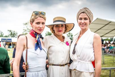 Sarah Kate Byrne, Lady Sitwell and Margo Stilley