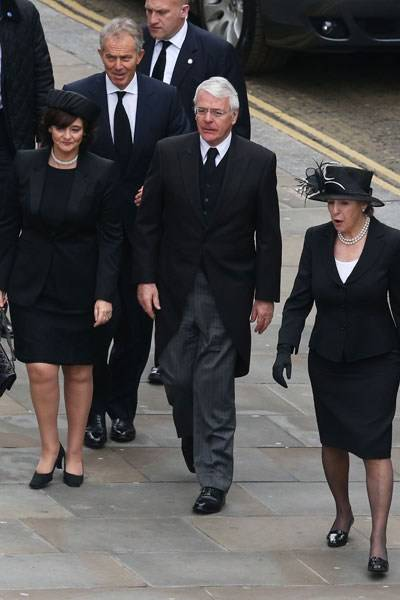 Cherie Blair, Tony Blair, Sir John Major and Dame Norma Major