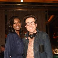 Leomie Anderson and Nick Grimshaw