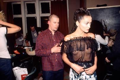 Alexander McQueen and Annabelle Neilson, 1996