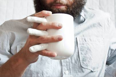 Hand-holding mug
