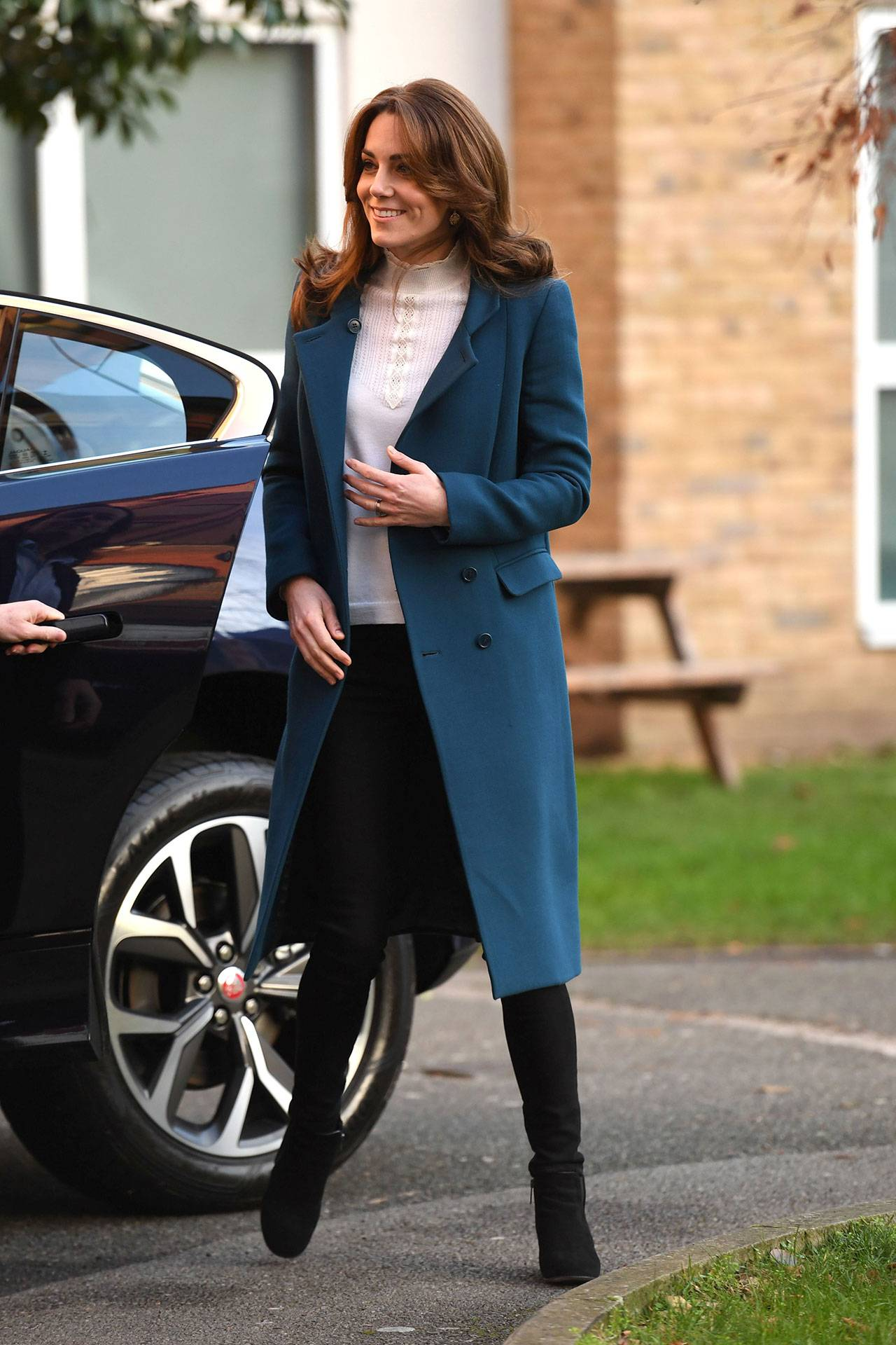 a thematic outing as kate wears military finest for defence centre visit tatler kate wears military finest