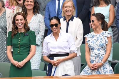 The Duchess of Cambridge, the Duchess of Sussex and Pippa Middleton at the ladies singles final